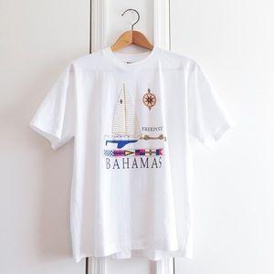 Bahamas Sailboat Vintage Tee